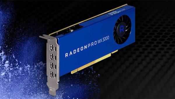 AMD Radeon Pro WX 3200 para uso profissional anunciada